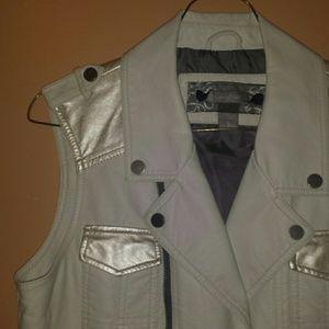 Daytrip Faux Leather Vest - Lg